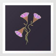 Purple Flora Art Print
