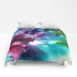 Abstract in Purple and Blue Comforters