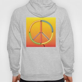 PEACE Sign Neon Hoody