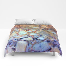 marble effect 007 (blue) Comforters