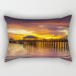 Gulf Coast Sunset over Biloxi Bay Rectangular Pillow