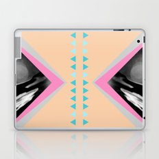 Peachy with Blue Triangles Laptop & iPad Skin