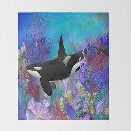Under The Sea Oraca Killer Whale Throw Blanket