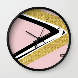 Abstract Blush II #kirovair #design #minimal #society6 #buyart Wall Clock