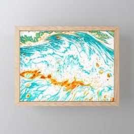 Waves of Thought #abtsract #painting Framed Mini Art Print