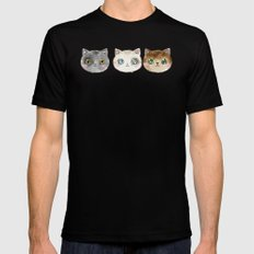 Meow Meow Purr Purr SMALL Mens Fitted Tee Black