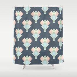 Tie Dye Diamonds Shower Curtain