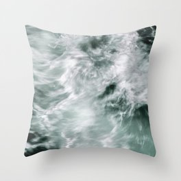 Silky Waves Throw Pillow
