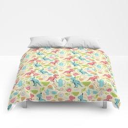 Tea Rex seamless pattern Comforters