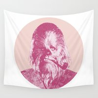 chewbacca Wall Tapestries featuring Chewbacca by Les petites illustrations