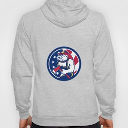Bulldog Fireman American Flag Icon Hoody