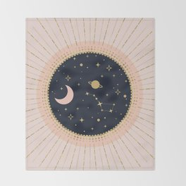 Love in Space Throw Blanket