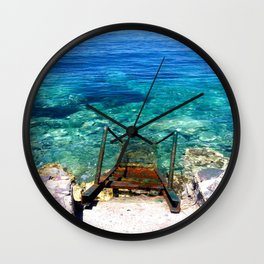 deep blue sea photography  Wall Clock