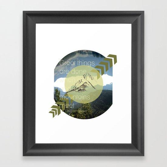 Great things Framed Art Print