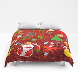 Cute Christmas Mix, red Comforters