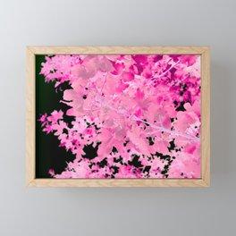 Abstract Tree Landscape Dark Botanical Art, green, black and pink Framed Mini Art Print