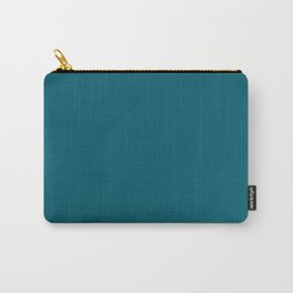 Sherwin Williams Trending Colors of 2019 Oceanside (Dark Aqua Blue) SW 6496 Solid Color Carry-All Pouch