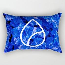 Lapis Lazuli Candy Gem Rectangular Pillow