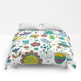 Flowers, flower meadow, nature Comforters