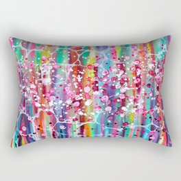 Roses & Bubbles on Rainbows Rectangular Pillow