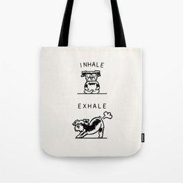 Inhale Exhale Schnauzer Tote Bag