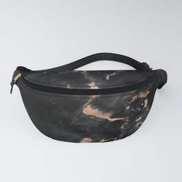 Chic abstract rose gold black elegant marble Fanny Pack