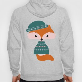 Cute fox waiting for Christmas Hoody