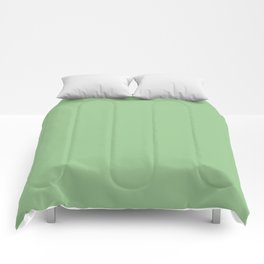 Solid Light Frog Green Color Comforters