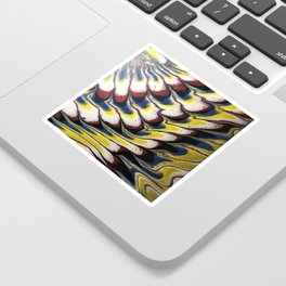 Melted feathers abstract acrylic Sticker