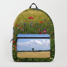 Purple, Red, and Orange Prairie Wildflowers of Spring Backpack