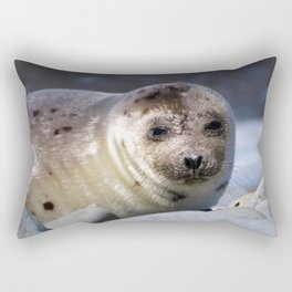 Baby Seal Looking at You Now Rectangular Pillow