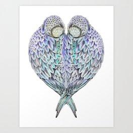 LOVE BIRDS IN COLOUR Art Print