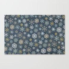 night time snow  Canvas Print