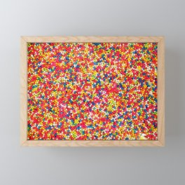 Vibrant Rainbow Sprinkles Framed Mini Art Print