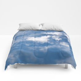 White clouds heart shape authentic Comforters