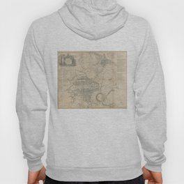 Vintage Map of Edinburgh Scotland (1818) Hoody