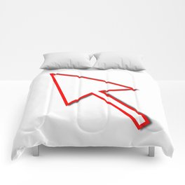 Cursor Arrow Mouse Red Line Comforters