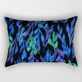 180726 Abstract Leaves Botanical Dark Mode 12   Botanical Illustrations Rectangular Pillow