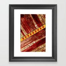 Wood and jewels Framed Art Print