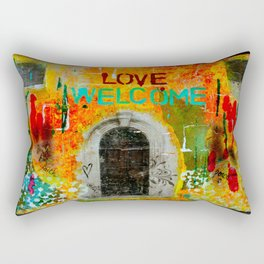 Love Welcome Rectangular Pillow
