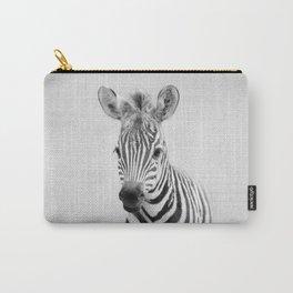 Baby Zebra - Black & White Carry-All Pouch