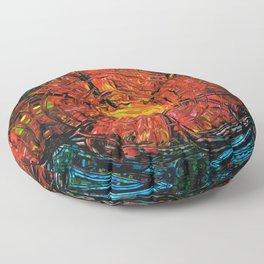 Red Flower Art - Incurable Romantic - By Sharon Cummings Floor Pillow