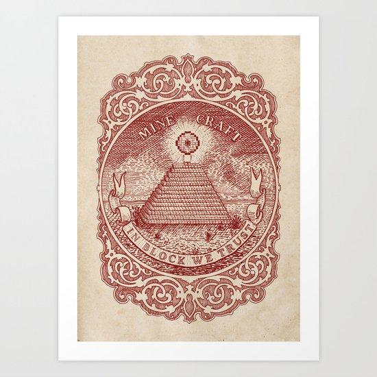In Block We Trust (Red) Art Print