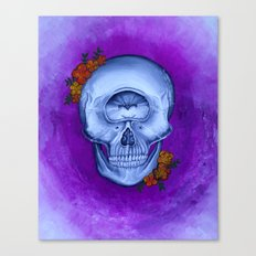 Cyclopse Skull Acrylic Painting Canvas Print