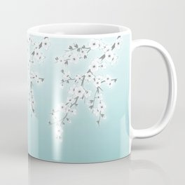 Cherry Blossoms Mint White Coffee Mug