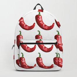 chilli pattern grid, fill, repeating, tiled | elegant Backpack