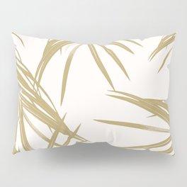 Gold Palm Leaves Dream #1 #tropical #decor #art #society6 Pillow Sham