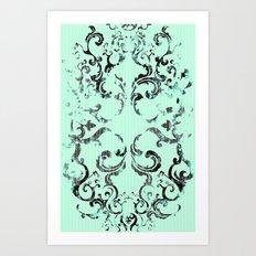 Squirrel Swirl Art Print
