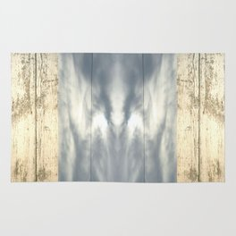 landscape 001: telegraph sky over white woods Rug