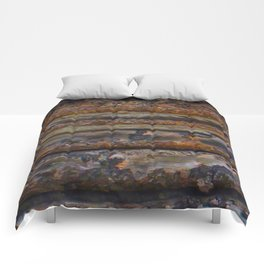 Aged Log Cabin rustic decor Comforters